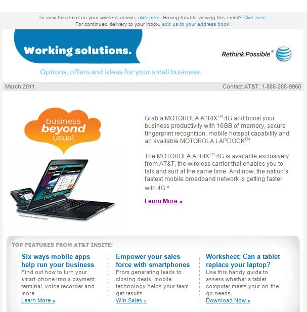 Att email before no call to action